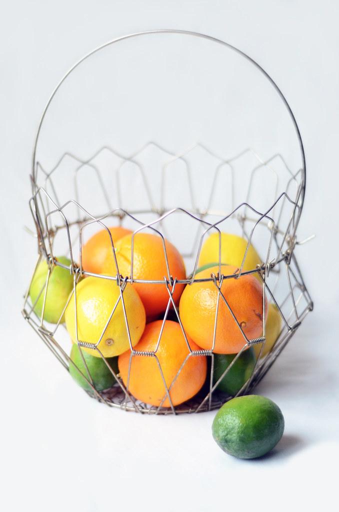 Vintage Egg and Veg Wire Basket