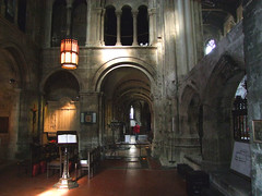 ambulatory looking east from north transept