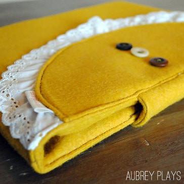 mustard and lace ipad jacket