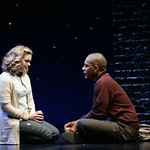 """Carol (Ana Reeder) and Ken (Reuben Jackson) contemplate their future in the Huntington Theatre Company's World Premiere of Stephen Belber's """"Carol Mulroney"""" directed by Lisa Peterson at the Calderwood Pavilion. Part of the 2005-2006 season. Photo: T. Charles Erickson."""