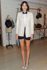 Alexa Chung White Blazer Celebrity Style Fashion