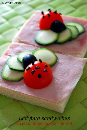 Ladybug sandwiches