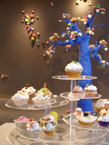 art sculpture exhibition library university unca asheville nc mystuart 2012 cake consumption metaphor celebration tree cupcakes cherryontop lucite museum libslibs ramsey undergraduate mountains artwork geotagged sarahray cupfakes