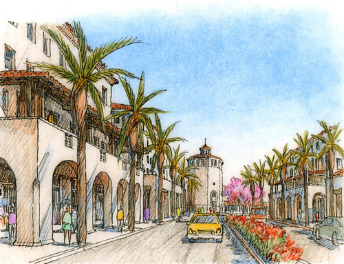 TOD vision for Santa Ana, CA (courtesy of Moule & Polyzoides)