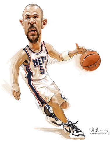 digital caricature of Jason Kidd - 2