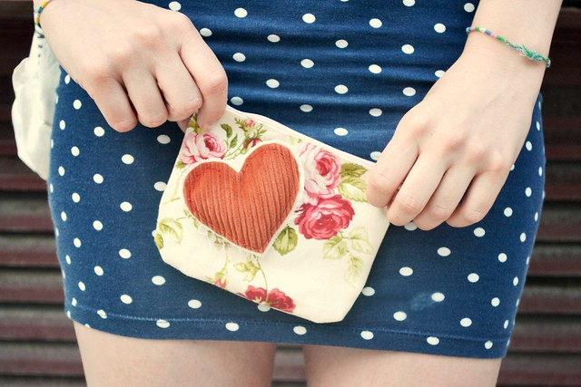 floral fabric coin purse