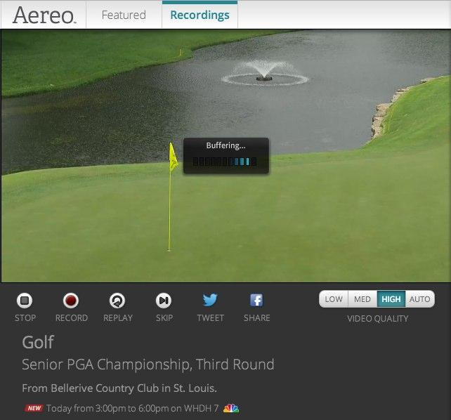 Aereo: Golf Buffering