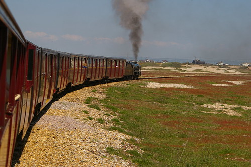 Puffs of black smoke billowing out of the locomotive as we pulled out of Dungeness!