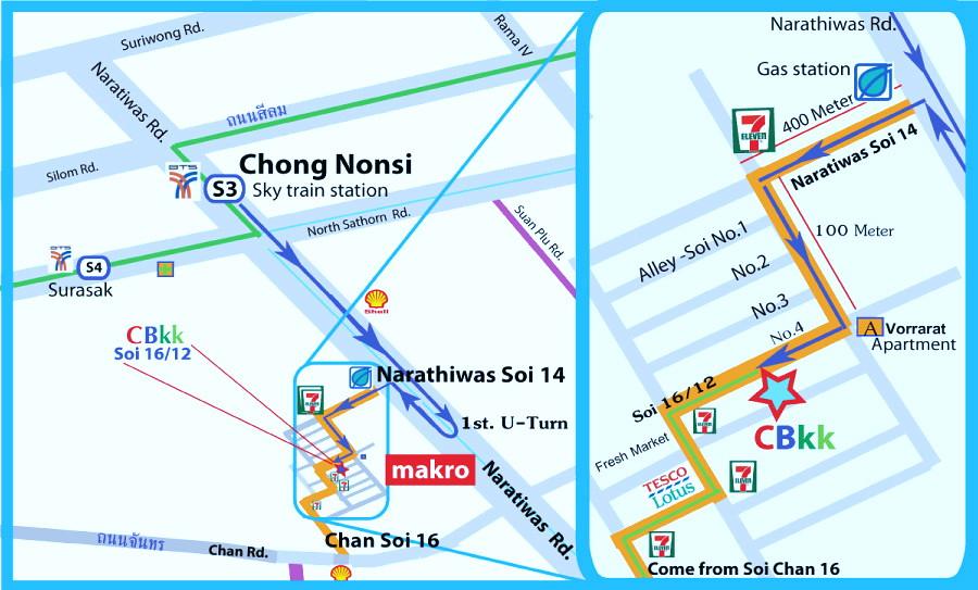 Map Cycling Bangkok