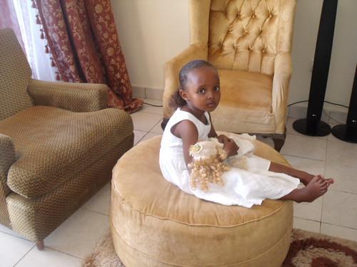 Roisin in her new home