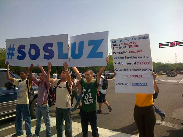Protesta LUZ