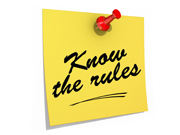 Know the Rules White Background