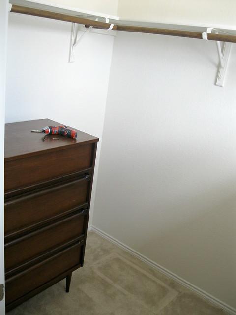 inside closet before