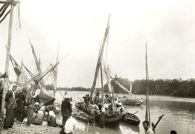 Pêcherie maritime à Can Gio. Retour de la pêche. 1921-35