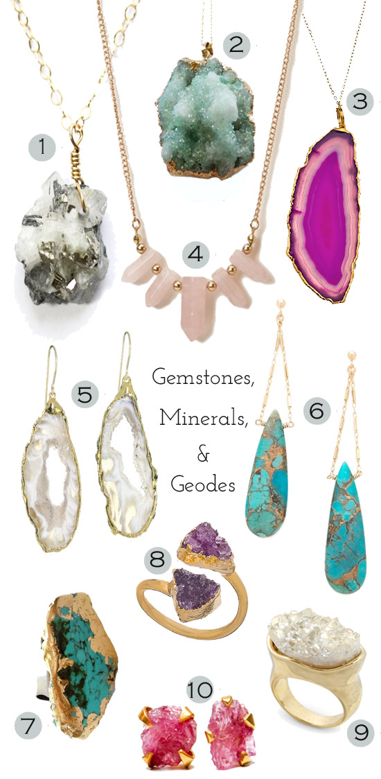 Jewelry: Gemstones, Minerals, and Geodes