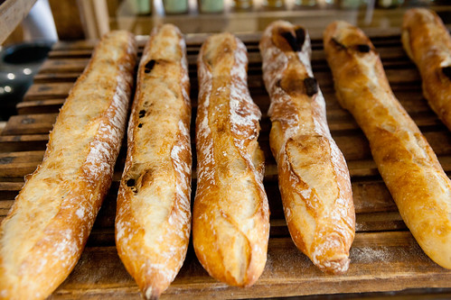 Chocolate baguettes, cooling