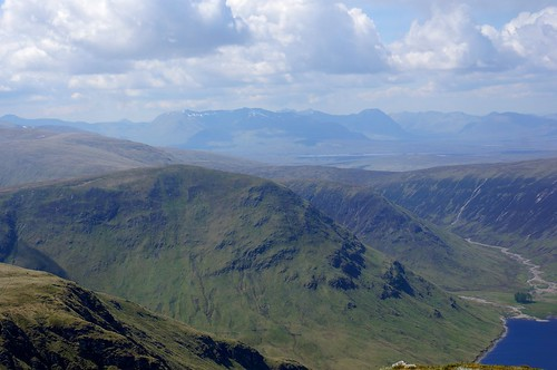 Looking West towards Glencoe and Buachaille Etive Mor from the summit of Stuchd an Lochain