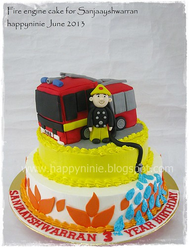 Fire engine cake for sanjaayshwarran