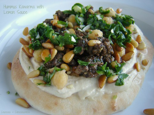 Hummus Kawarma with Lemon Sauce 1