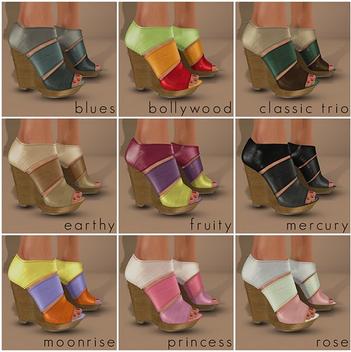 Slink - Tri Colour Wedges