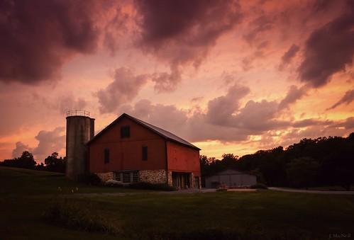 sunset red sky barn rural evening pennsylvania country dramatic pa jennifermacneilltraylor jennifermacneill jennifermacneillphotography