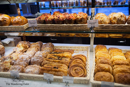 Various brioches and croissants