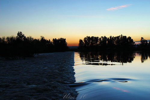 blue sunset shadow water rio azul river atardecer agua sombra tranquilidad armony