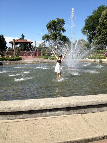Organizer Lisa cools off at Peninsula Park