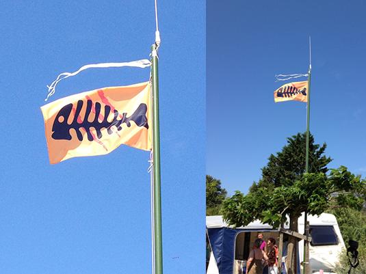 Réalisation et fabrication d'un drapeau nautique personnalisé pour un particulier.