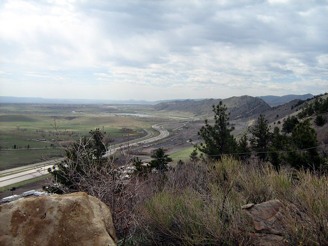 Looking south along the Dakota Hogback