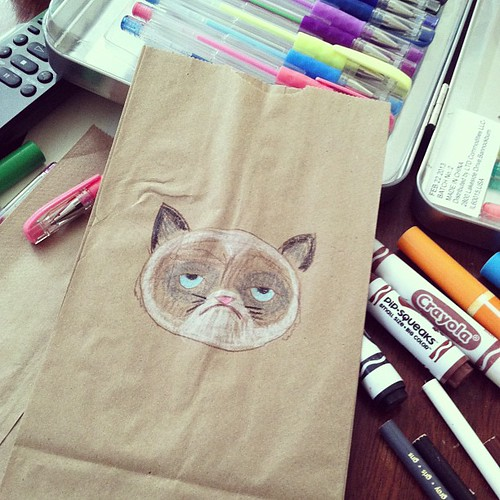 Getting a jump on Dash's lunch bags for the new school year.