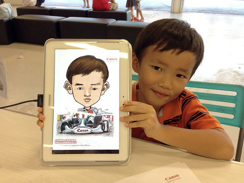 digital live sketching for Canon Karting Challenge 2013 on Samsung Galaxu Note 10.1