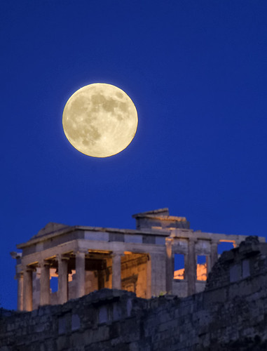 blue sky moon classic athens fullmoon greece classical acropolis tamron bluemoon pentaxk30