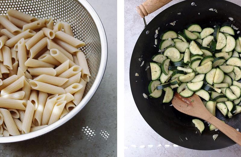 Zucchini + Mint + Cashew Ricotta + Pasta