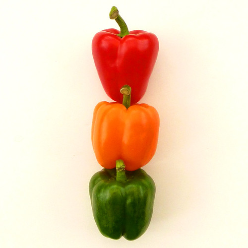 traffic light peppers by pho-Tony