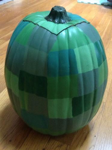 Creeper pumpkin - Back