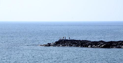 海 伊豆大島にて