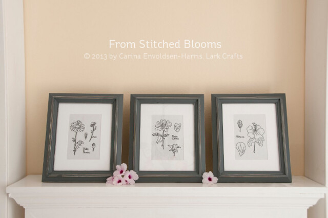 Botanical art - from Stitched Blooms