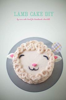 fluffy lamb cake DIY !