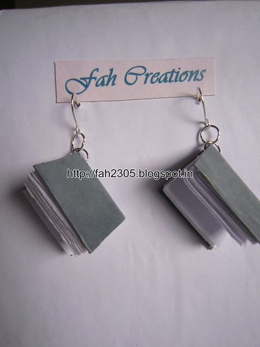Handmade Jewelry - Paper Book Earrings (4) by fah2305