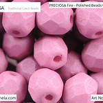 PRECIOSA Fire-Polished Beads - 151 19 001 - 02010/29565 - Cyclamen