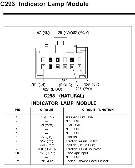 Wiring Schematic  Diagram - 1996 T-bird