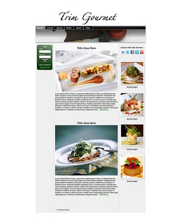 Trim Gourmet Webpage Mock-Up
