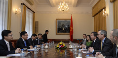 Deputy Secretary Anthony Blinken meets with Vietnamese Deputy Prime Minister and Foreign Minister Pham Binh Minh in Hanoi, Vietnam on May 18, 2015. [State Department Photo/Public Domain]