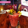 Make your own Bloody Mary bar at Pints and Quarts in West Olympia.  The white flecks are horseradish. #timehop #olywa