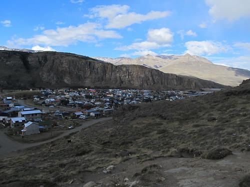 Vue sur le village d'El Chaltén