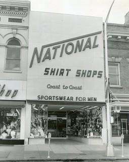 National Shirt Shops Columbus,Georgia 1955 Press Photo