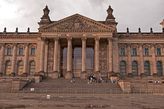 Image of Reichstag Building. nikon nikkor nikon18105mmf3556 18105mmf3556 building architecture germany berlin capitalcity capital reichstag outside outdoor exterior photoshop travel city europe d300s