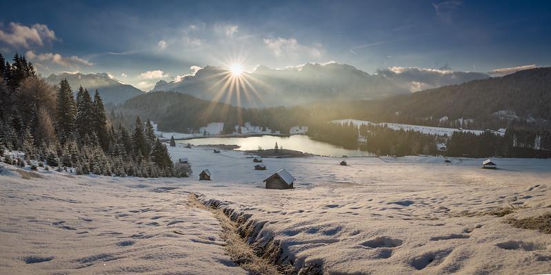 Paisaje nevado en Baviera, escenario ideal para la práctica de deportes invernales