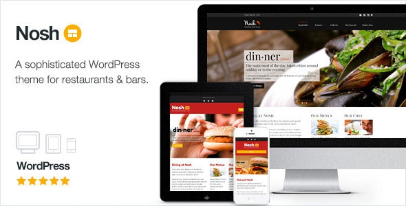 Nosh v2.11 - Restaurant and Bar WordPress Theme